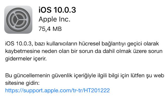 iOS 10.0.03 indir