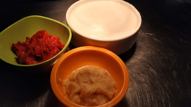 Red Chilly Paste ginger garlic paste Greek yogurt food recipe