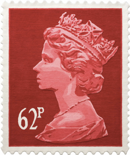 Royal Mail Postage Rug from Stamp Rugs