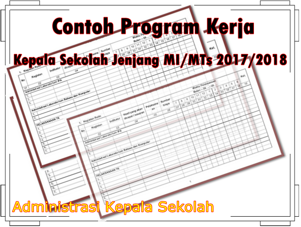 Contoh Program Kerja Kepala Sekolah Jenjang Mi Mts 2017