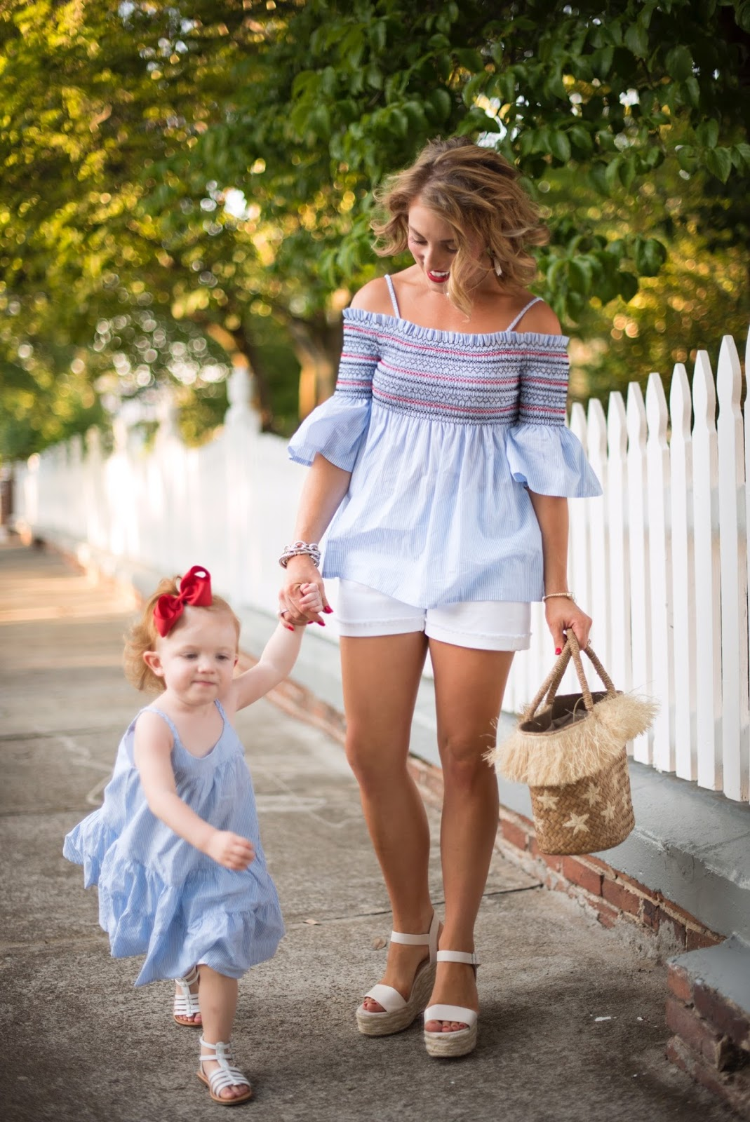 Mommy and me coordinating outfits - Click through to see more on Something Delightful Blog.