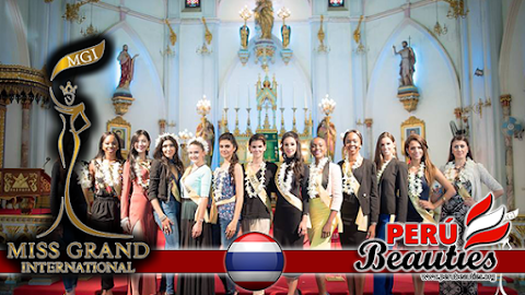 Candidatas visitan la Iglesia Católica de la Natividad - Miss Grand International 2015
