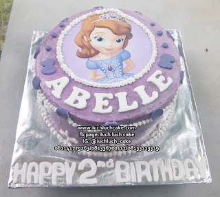 Kue Tart Edible Image Sofia The First