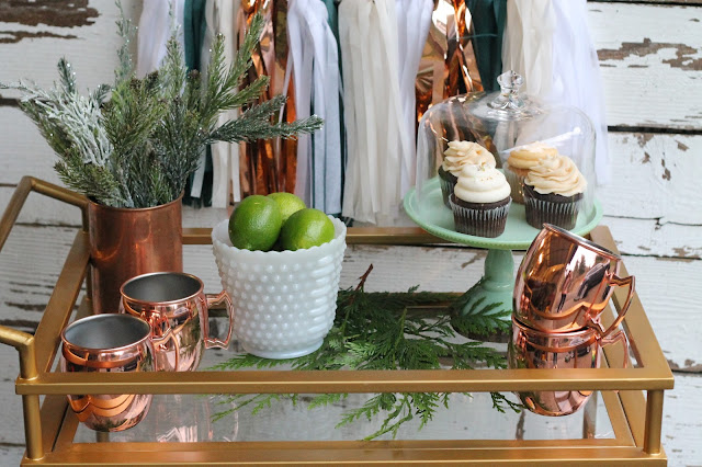 Bar Cart Styling New Years AK Party Studio