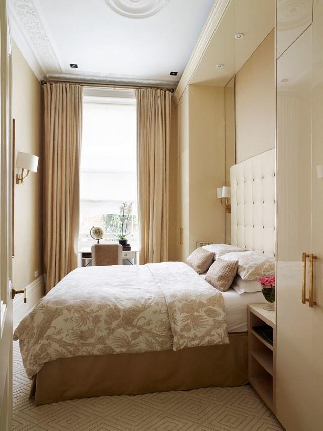 Dormitorio elegante con almacenaje