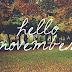 Olá Novembro...Voltei!