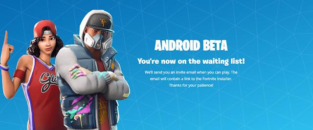 Fortnite Mobile Waitinglist