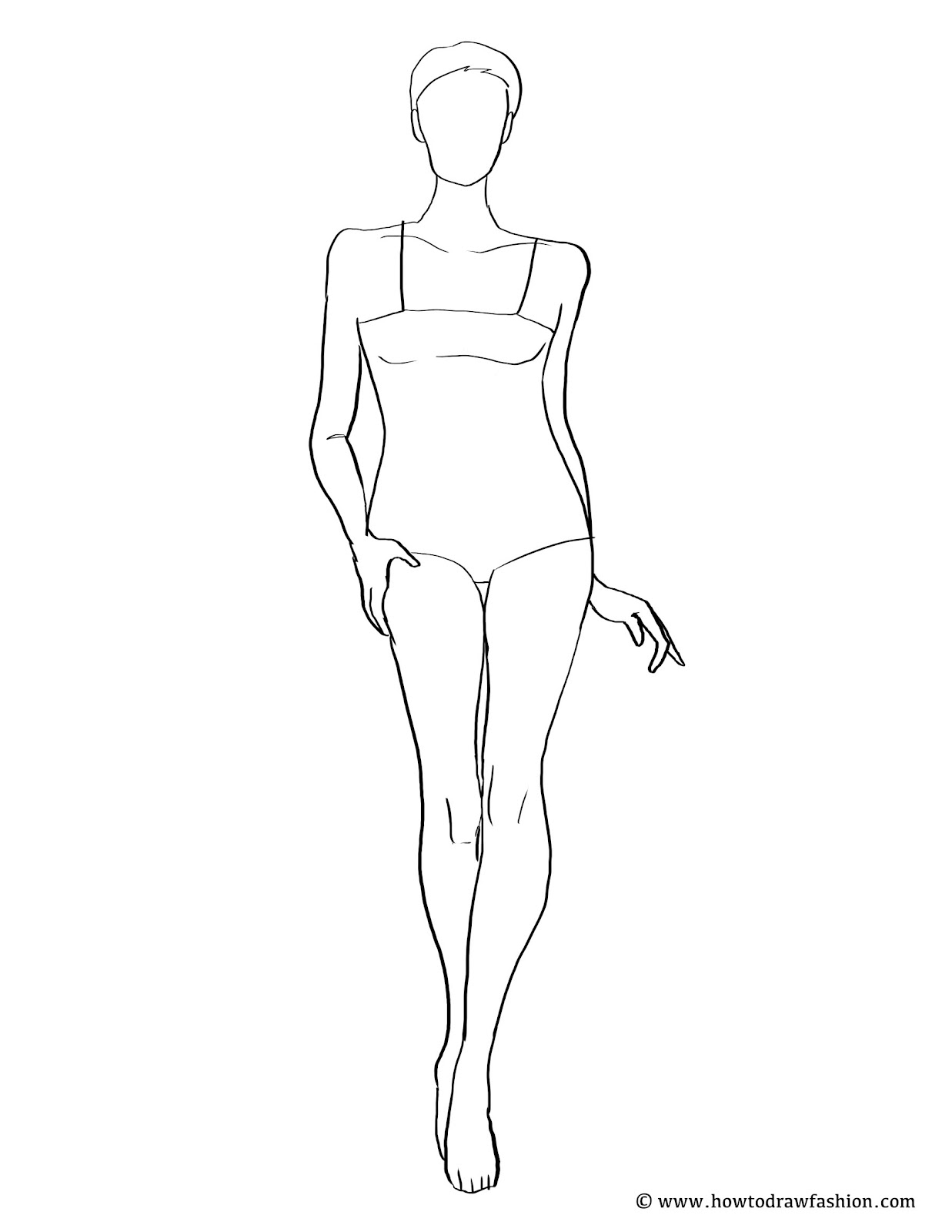 How To Draw Fashion: FREE Fashion Template Tuesday!