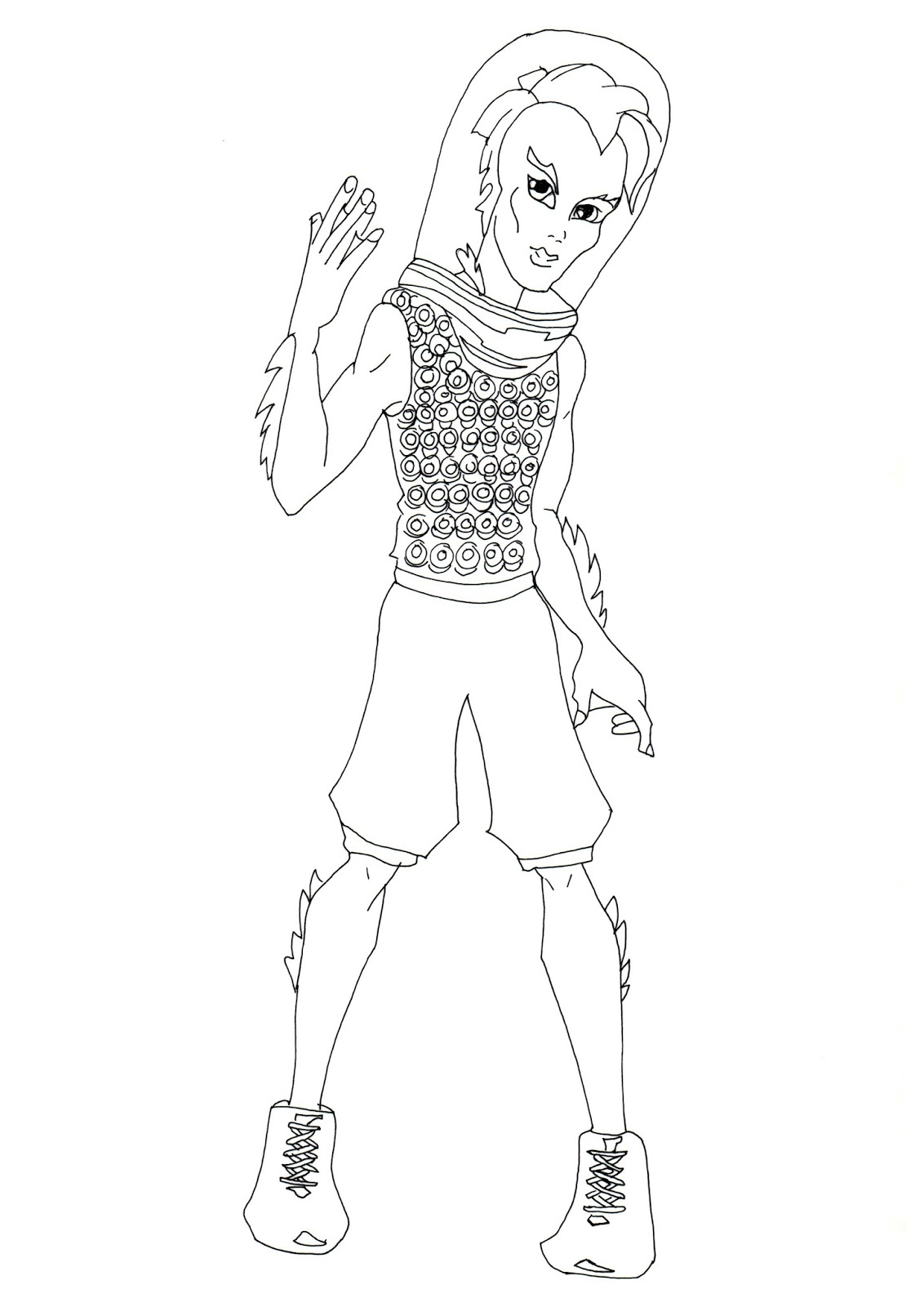 Free Printable Monster High Coloring Pages: Gil Webber