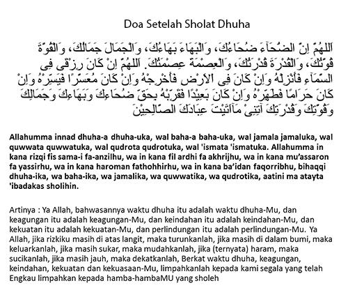 Dzikir Tata Cara Niat Bacaan Doa Setelah Sholat Dhuha Lengkap