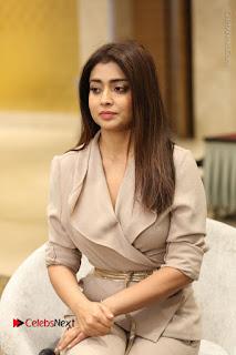 Actress Shriya Saran Stills in Stylish Dress at Gautamiputra Satakarni Team Press Meet  0062.JPG