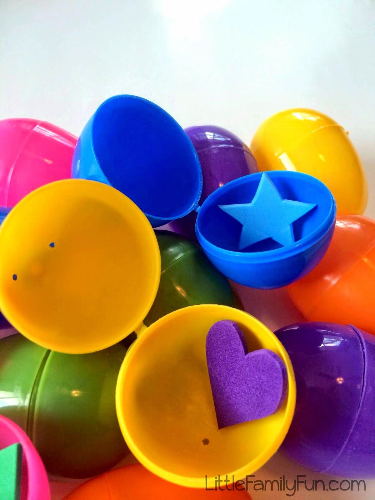 Little Family Fun Easter Egg Shape Hunt