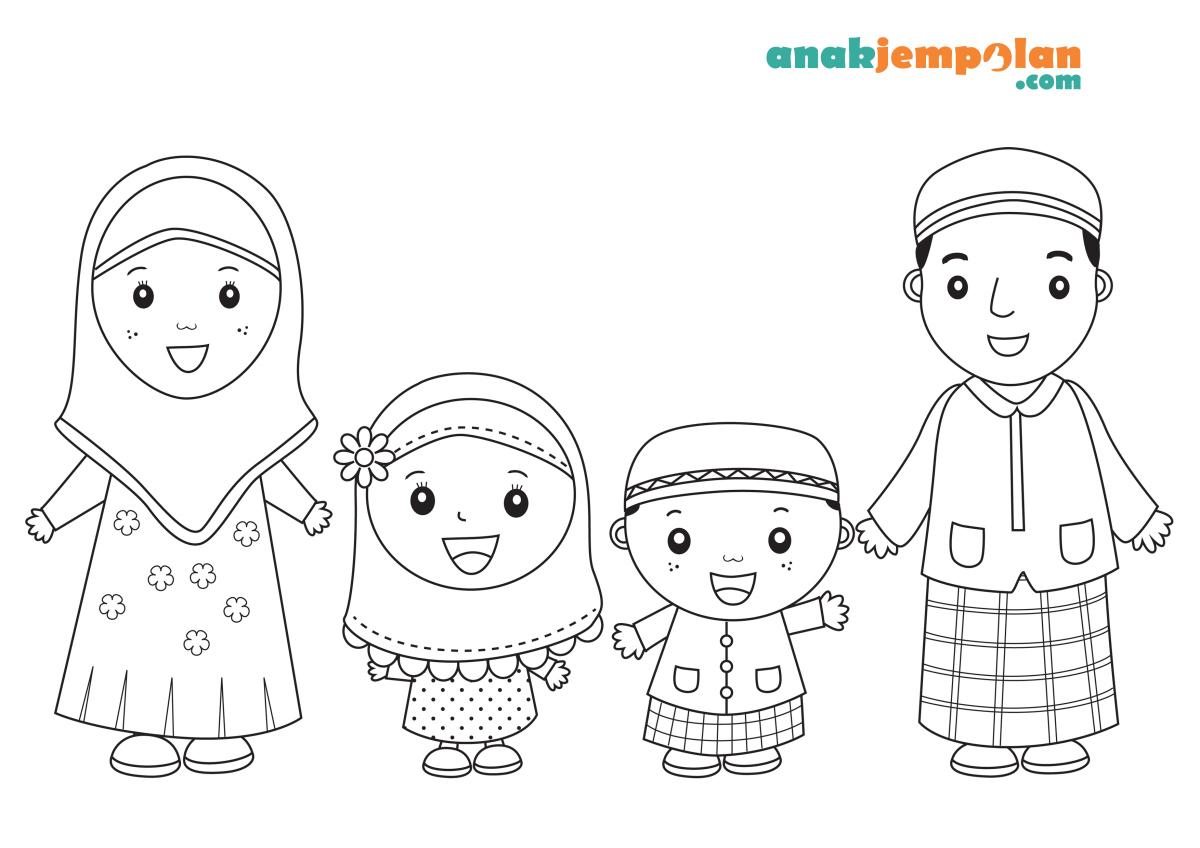10 Mewarnai Gambar Tema Bulan Ramadhan
