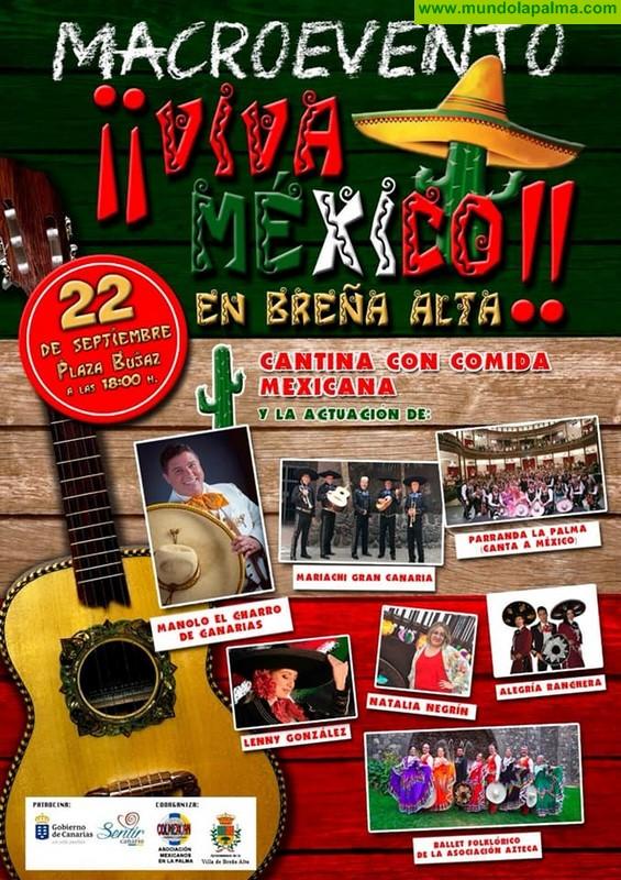 Macroevento Viva México en Breña Alta