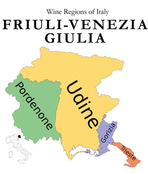 Friuli Venezia Giulia wine region italy pairing