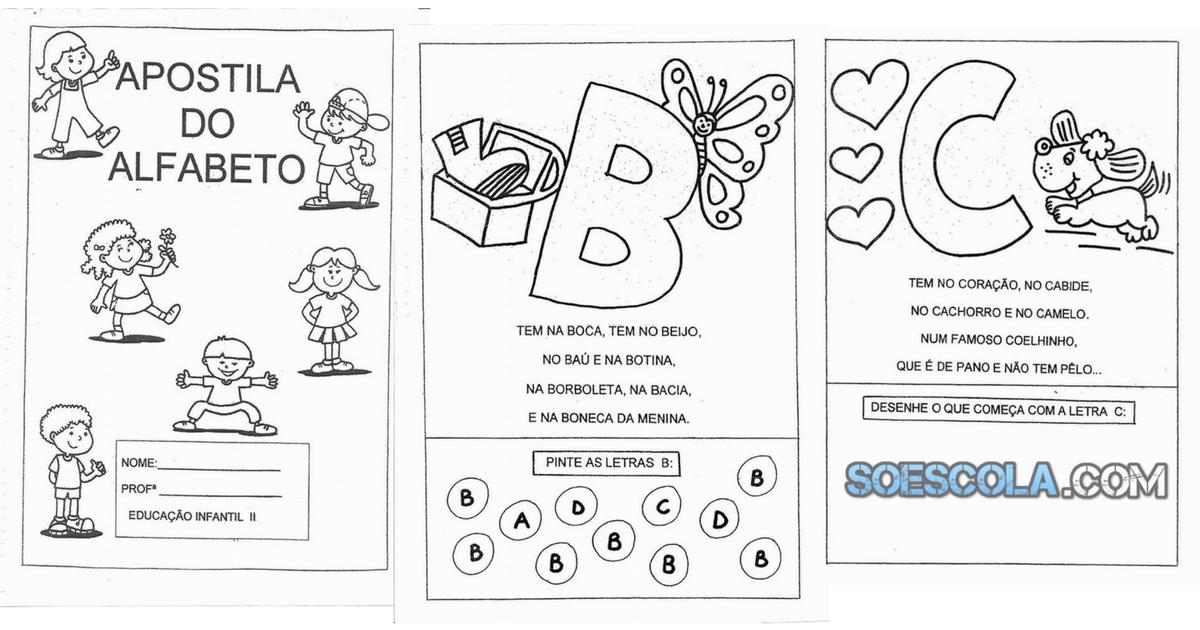 Apostila Do Alfabeto Um Texto Para Cada Letra Só Escola