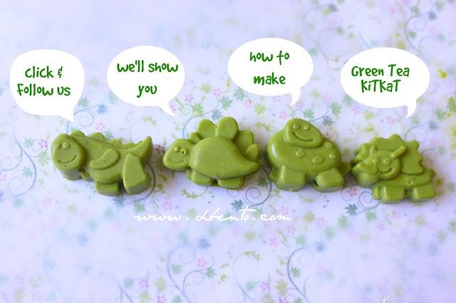 cara membuat kitkat green tea