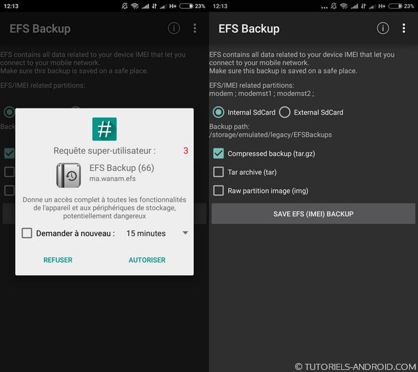 SAMSUNG EFS Backup