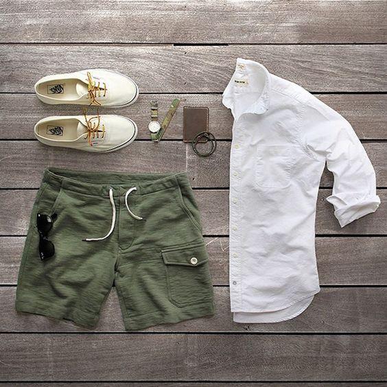 verde militar masculin