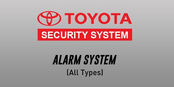 Toyota Security Alarm System Toyota New Rush