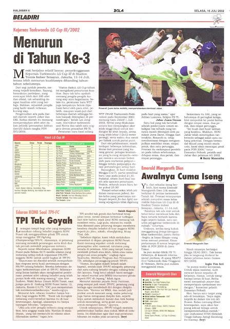KEJURNAS TAEKWONDO LG CUP III/2002 MENURUN DI TAHUN KE-3