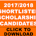 ATI ANNANG 2017/2018 Scholarship List of Shortlisted Candidates