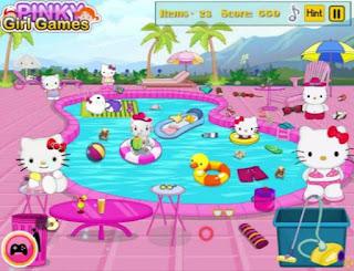 Gambar Game Hello Kitty Berenang Lucu Online
