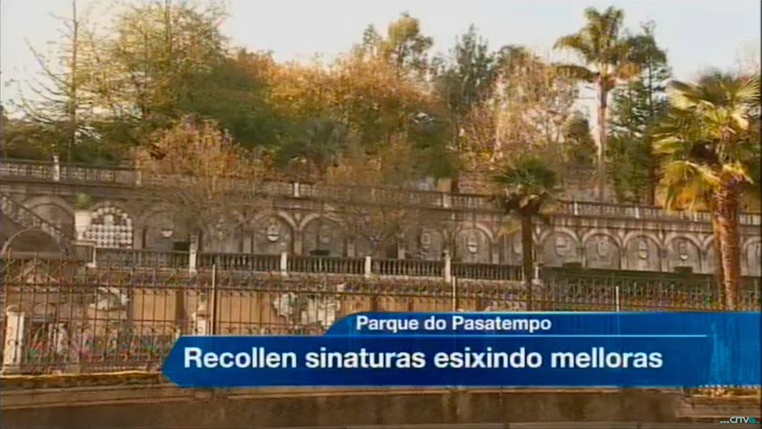Noticia en el telediario de la TVG