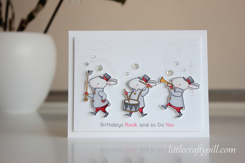 Little crafty pill masculine and cute birthday card today i have for you a birthday card that i made for a male friend i love those rabbits by birdie brown they are really cute yet perfect for masculine bookmarktalkfo Choice Image