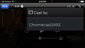 connect chromecast to Showbox