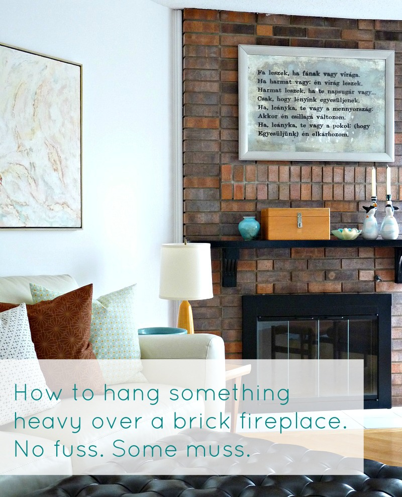 How to Hang a Heavy Mirror on Brick