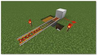 Minecraft トロッコアイテム輸送 簡単な荷降ろし駅 作り方⑤