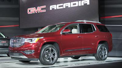 Upcoming 2017 Acadia Denali Red SUV