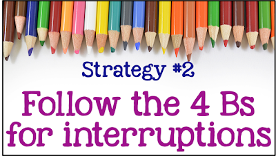 Struggling with interruptions during small group time? Here are some helpful strategies on maintaining focus when students work in their small groups!