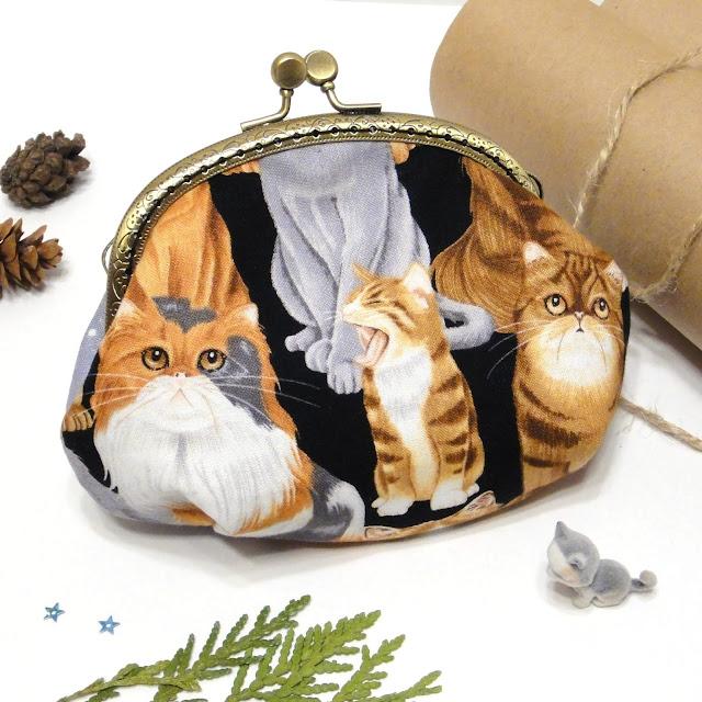 Детский кошелек с котенком - подарок девочке. Один экземпляр. Почта или курьер - доставка по России.