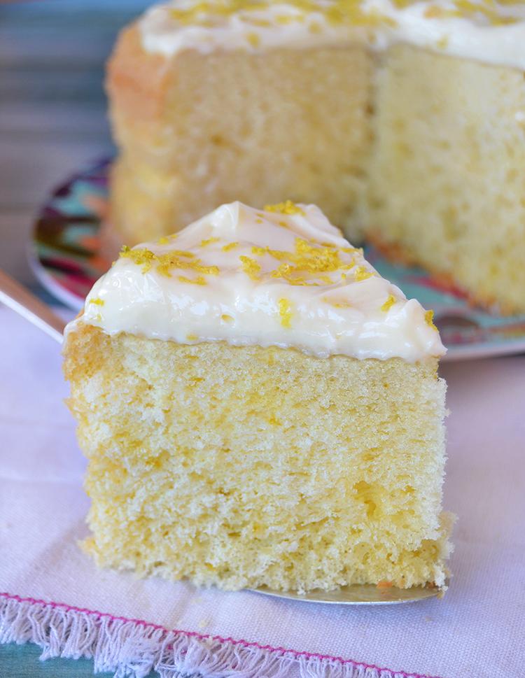 Bizcochuelo de limón sin gluten