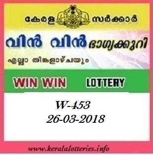 WIN WIN (W-453) LOTTERY RESULT