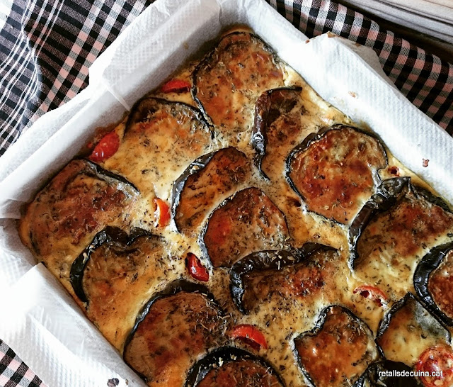 Pastís d'albergínies i formatge del Yotam Ottolenghi