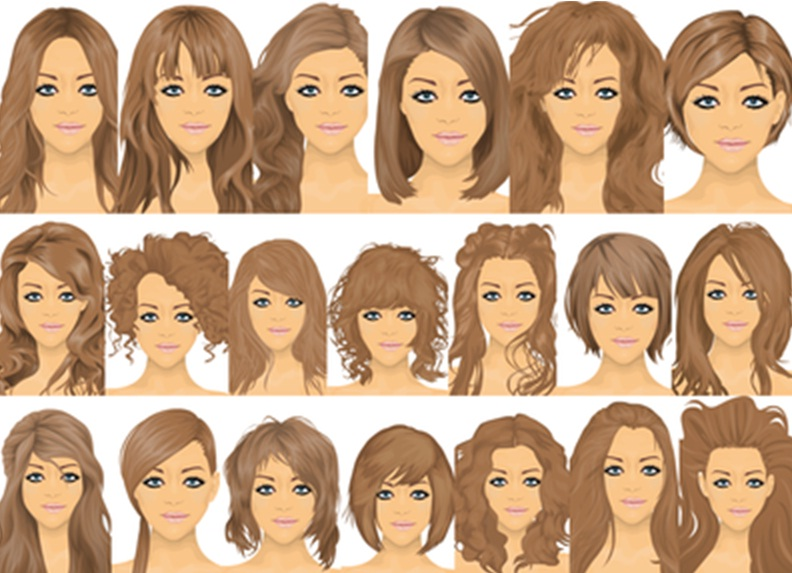 frisyrer halvlångt hår lugg
