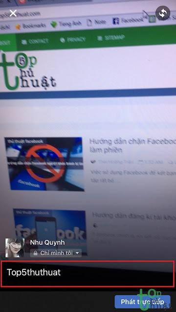 Hướng dẫn Live Stream trên Facebook