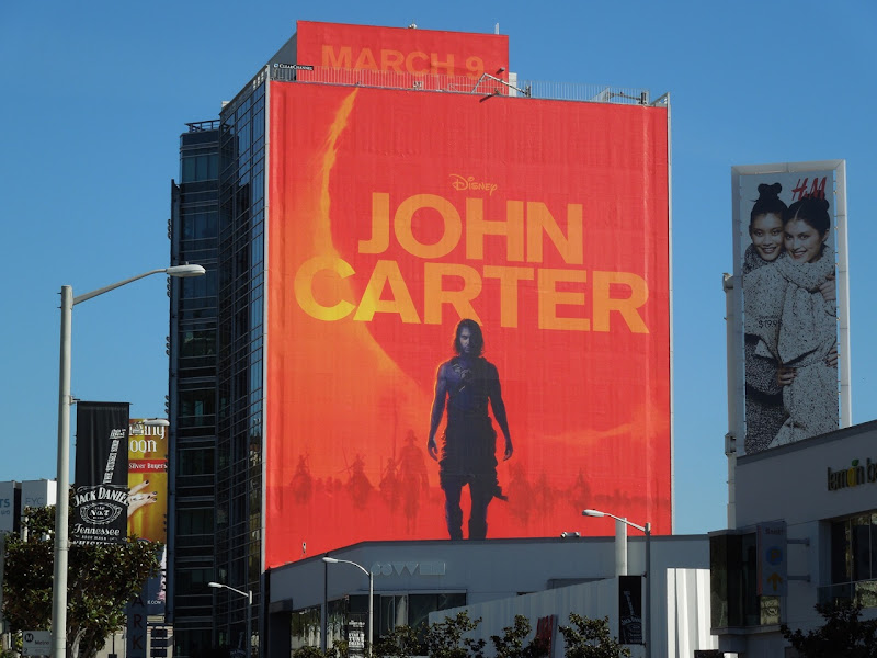 Giant John Carter billboard Sunset Strip