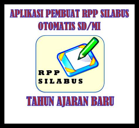 Aplikasi Pembuat RPP SILABUS Tahun Ajaran 2017/2018 OTOMATIS
