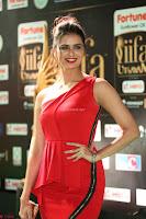 Meenakshi Dixit in Red One Shoulder Red Zipped up gown at IIFA Utsavam Award 76.JPG