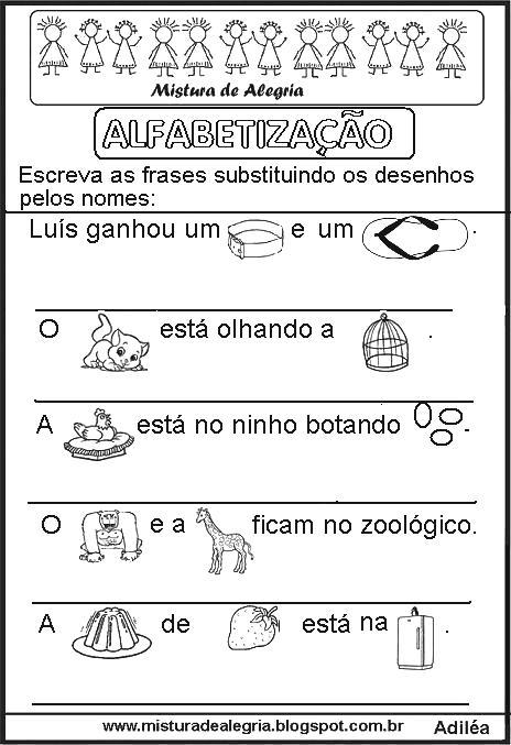 Conhecido Frases Simples Para Alfabetização Ge09 Ivango