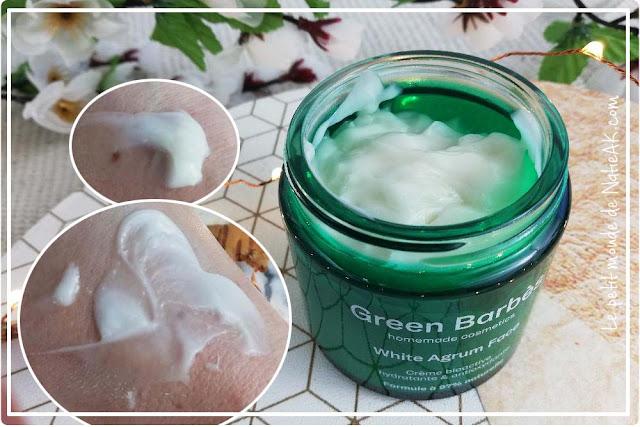 kit cosmétique maison White agrum de Green Barbès : crème visage