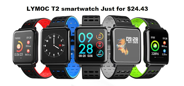 LYMOC T2 smartwatch Just for $24.43