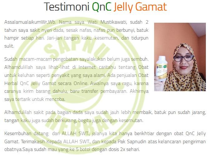 Hasil gambar untuk testimoni qnc obat ispa