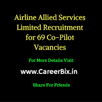 Airline Allied Services Limited Recruitment for 69 Co-Pilot Vacancies