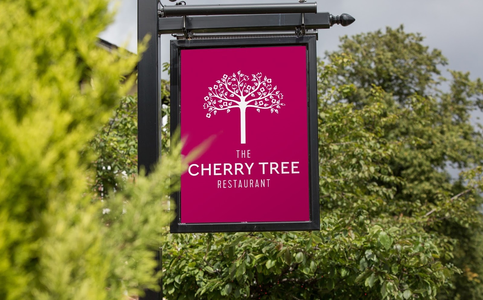 Family Sunday Lunch at The Cherry Tree Restaurant, Jesmond | A Review  - sign