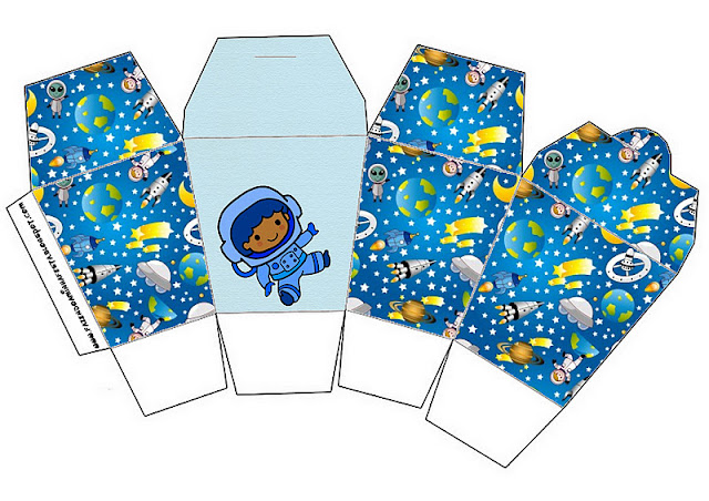 Astronaut Kid Party: Free Printable Boxes.